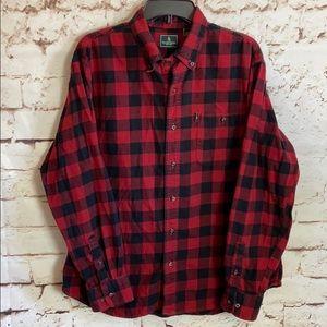 G.H. Bass Buffalo Plaid Flannel Button Down Shirt